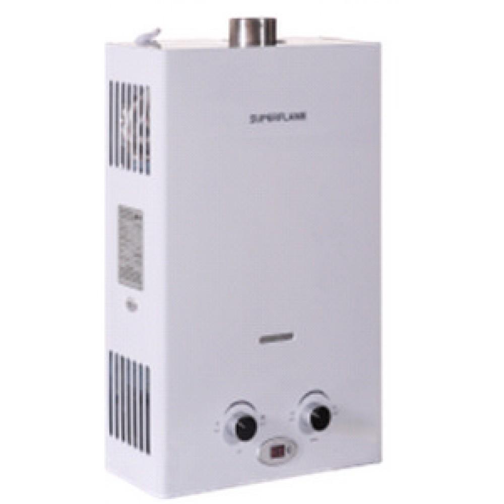 ВПГ SUPERFLAME SF0420T 10L (водонагрев.газ./розжиг от сети/10л/мин /турбиров)+труба 60х630мм+обр.кл