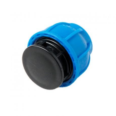 Заглушка ПНД Ø32 UNIO синий