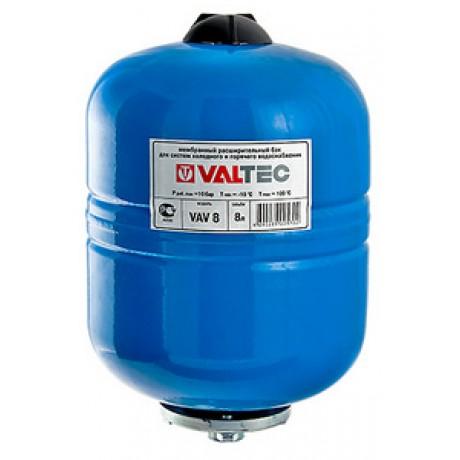 Гидроаккумулятор VALTEC для ГВС и ХВС 12л Синий (вертикальный/метал./3/4