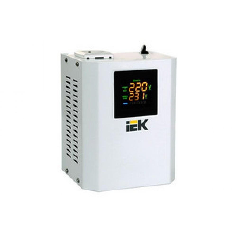 Стабилизатор напряжения IEК (0,5 кВт) электронный навесной, белый